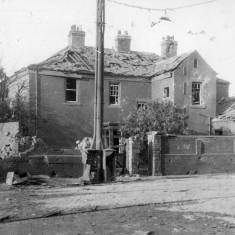 Bomb Damage to 'The Grove' in Dean Road