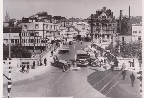 Old Exe Bridge, photograph, c1935, Exeter