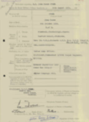 RMC Form 18A Personal Detail Sheets Aug 1935 Intake - page 114