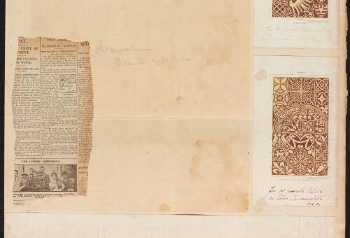 Selection of tiles and drawing of Deannery of Lynnn Marshland