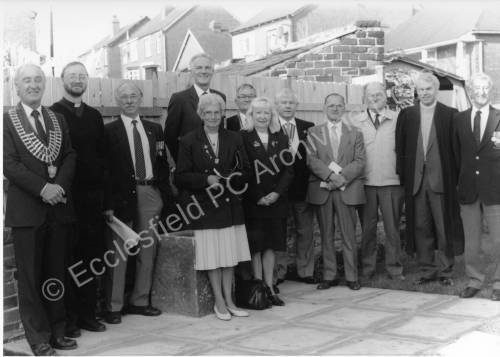 E.P.C. Memorial Garden, Sussex Road,Chapeltown Dedication Service November 1995