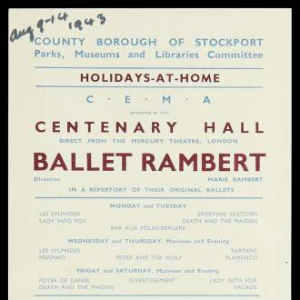 Centenary Hall, August 1943