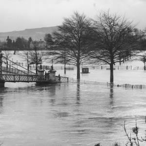 Victoria Bridge Flooded