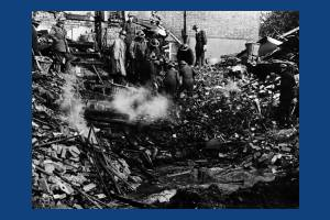 Wartime damage in Richmond Avenue, Merton