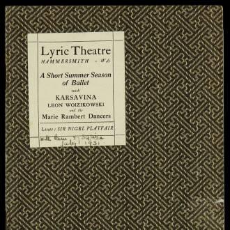 Lyric Theatre, Hammersmith, London, June–July 1931