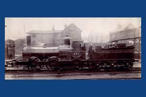 Beattie steam train near Wimbledon Station