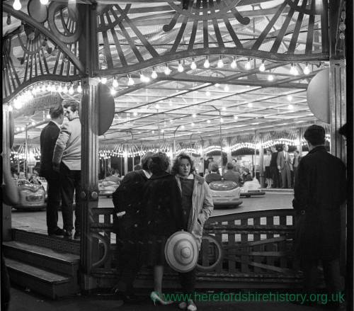 Deakin's Dodgems at the 1962 Hereford May Fair