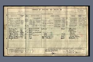 1911 Census - 14 Cross Hill, Shrewsbury