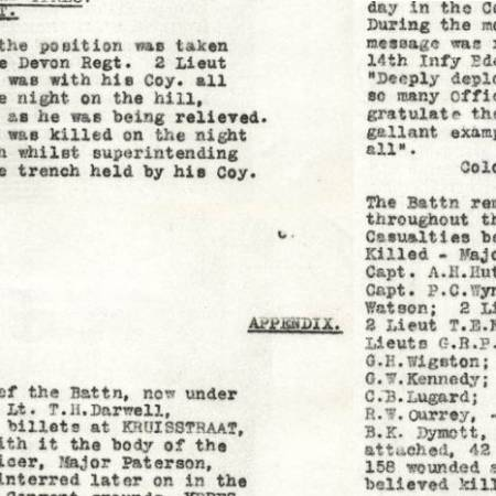 War Diary - East Surrey Regiment