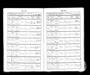 Baptism Record - Frederick Harold Patrick