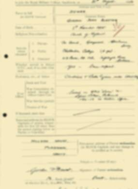 RMC Form 18A Personal Detail Sheets Aug 1934 Intake - page 54