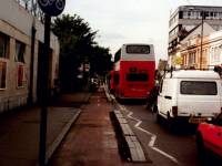 Coombe Lane, Raynes Park: Cycle lane