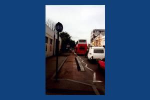 Coombe Lane, Raynes Park: Cycle lane