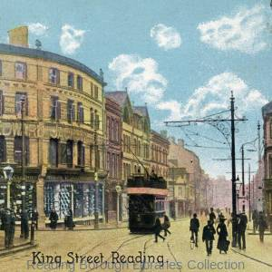 King Street, Reading, postcard. c1900