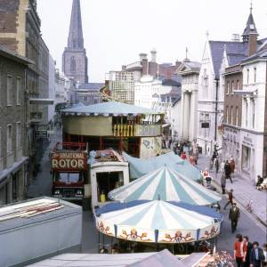 View of the May Fair along Broad Street, Hereford, 1970