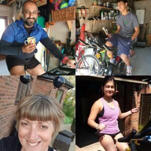 Punn family, Ross-on-Wye, raising money for Hope Support Services during the coronavirus pandemic, 26 April 2020