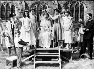 Merton May Queen pictured at St John's Church, Merton