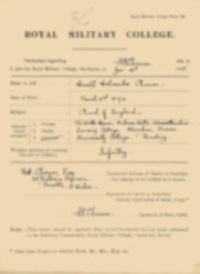 RMC Form 18A Personal Detail Sheets Jan 1915 Intake - page 71