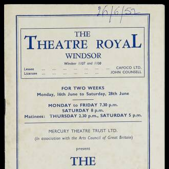 Theatre Royal, Windsor, June 1952 - P02