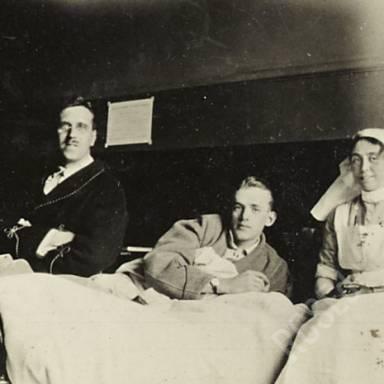 Ward Z 7, Sister Nicolson, Captain Kirkness (RAMC), Williams (K.O.S.B)