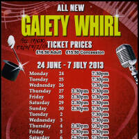 Flyer - The All New Gaiety Whirl 2013