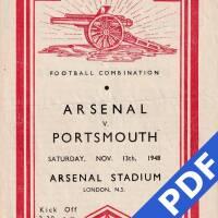 19481113 Official Programme Arsenal Away FC