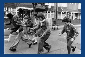 The Queen's Silver Jubilee: Children's activities in Glebe Avenue, Mitcham