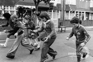 The Queen's Silver Jubilee: Children's activities in Glebe Avenue, Mitcham