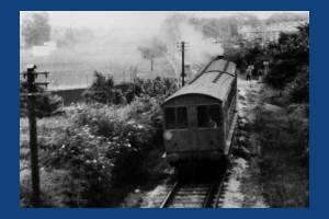 Steam Train approaching Merton Park Station:  Wimbledon to West Croydon Line