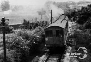 Steam Train approaching Merton Park Station:  Wimbledon to West Croydon Line