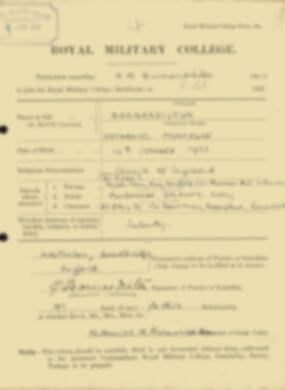 RMC Form 18A Personal Detail Sheets Feb & Sept 1922 Intake - page 5
