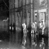 Irving Street flood, Litherland, 1933