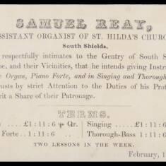 Samuel Reay, Assistant Organist