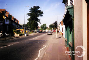 Upper Green East, Mitcham: Looking towards Fair Green