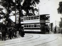 Tram turning into Coombe Lane