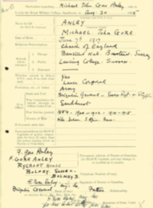 RMC Form 18A Personal Detail Sheets Aug 1935 Intake - page 10