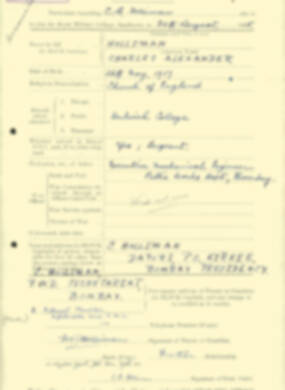 RMC Form 18A Personal Detail Sheets Aug 1935 Intake - page 104
