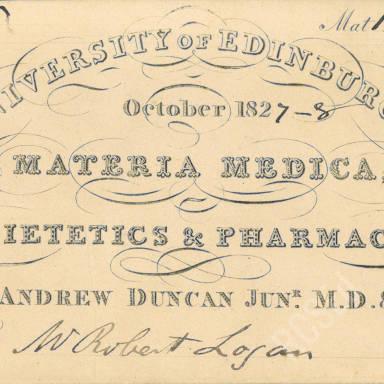 Materia Medica, Dietetics & Pharmacy