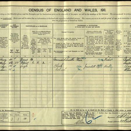 1911 Census 20 Park Road