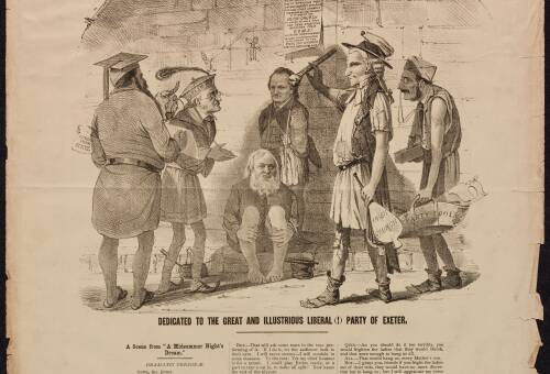"""Exeter Election, 1868, """"Shakespeare illustrated"""" No.4, """"By and bye is easily said"""""""