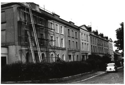 Regents Park from Polsloe Road, c1960 Exeter