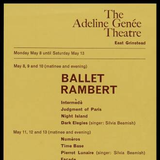 Adeline Genée Theatre, East Grinstead, May 1967