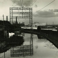 Leeds/Liverpool Canal showing Red Lion Hotel Litherland