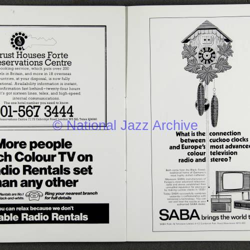 Duke Ellington Orchestra 'Sacred Concert' – Westminster  Abbey 24th   October 1973 013