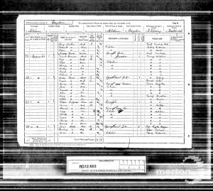 1891 Census for 1 Byegrove Road, Colliers Wood