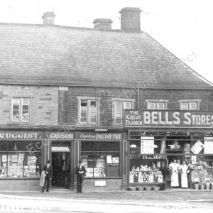 Gibson's shop & Bell's Stores, Chapeltown, c1900.jpg