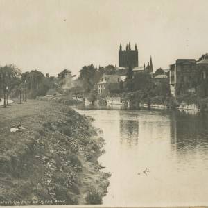 Hereford Cathedral and river