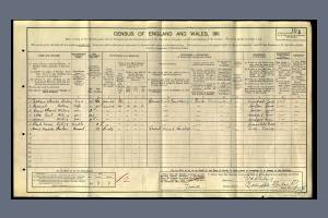 Stirling George Census 1911 Sheridan Road
