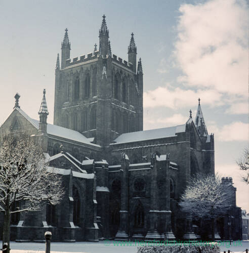 058 - Hereford Cathedral in snow