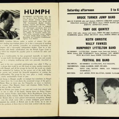 Chris Barber's Jazz Band with Ottilie Patterson, National Jazz Festival, Richmond - 1962 004